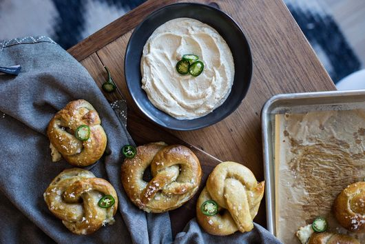 Crazy Feta Soft Pretzel Knots