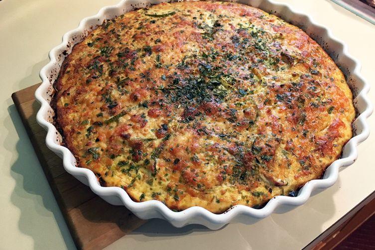 Summer Quiche with Cauliflower Crust