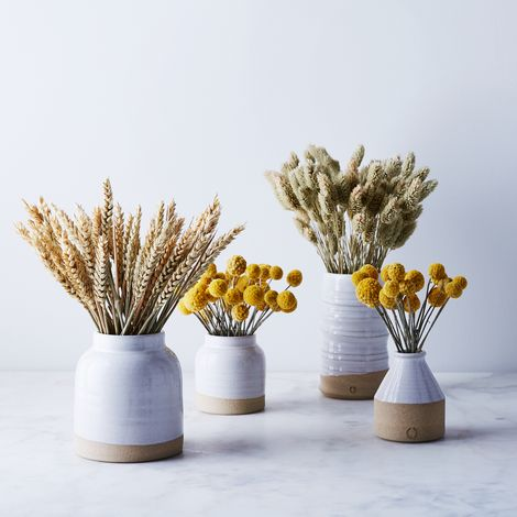 Handmade Ceramic Vase & Dried Floral Arrangement