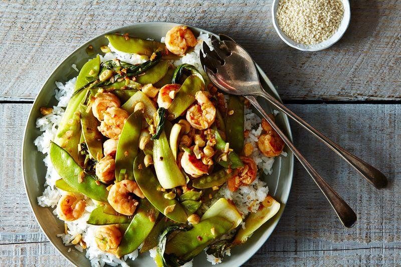 Shrimp and Baby Bok Choy Stir-Fry