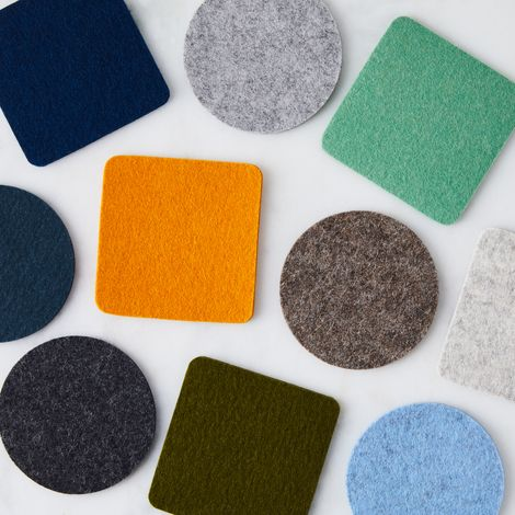 Square Felt Coasters (Set of 4)