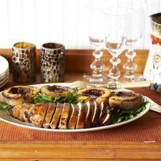 Spiced Turkey Breast with Balsamic Grilled Peaches