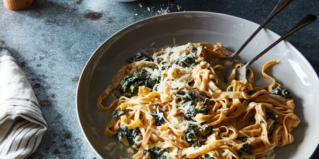 Not a fan of caramelized onions? Don't use them. Want some green? Add creamed kale.