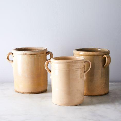 Vintage Found Italian Olive Jar