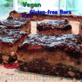 Raw Vegan Gluten-Free Blackberry Caramel Nougat Bars