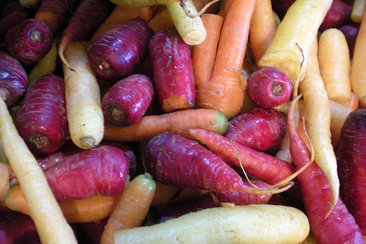 Heirloom Carrot Salad w Dates, Almonds & Herbs