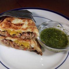 Lamb Empanadas with Chimichurri Sauce