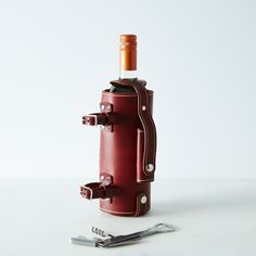 Bicycle-Mounted Wine Holder