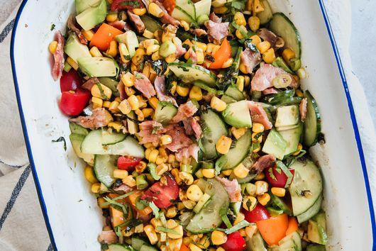 Corn Pesto Salad