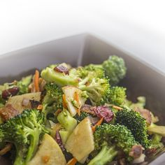 Broccoli Salad with Maple Bacon and Caramelized Apple Vinaigrette