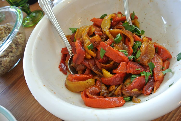 roasted sweet bell pepper salad