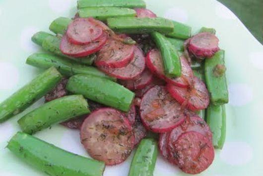 Sauteed Radishes and Sugar Snap Peas