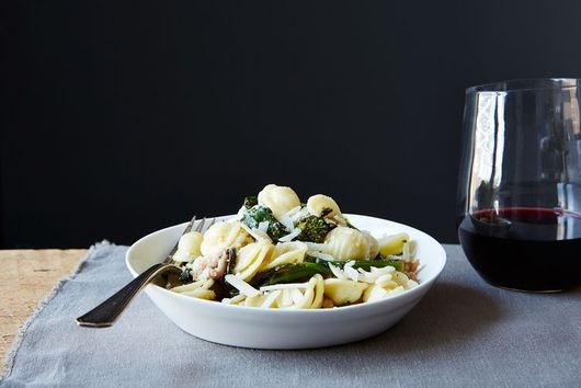 Pork, Pasta, Parmesan are the 3 Musketeers of Weary Weeknight Dinners