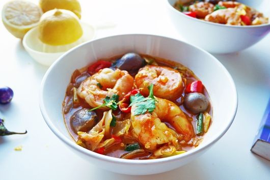 Coconut milk and Gochujang Prawn curry