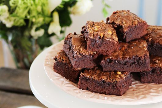 Honeycomb & Sea-Salt Chocolate Brownies
