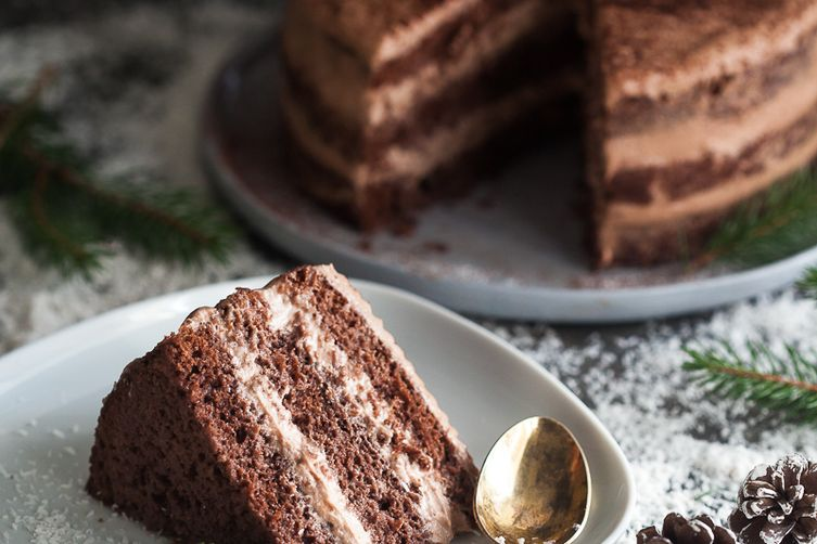 Easy Naked Chocolate Cake
