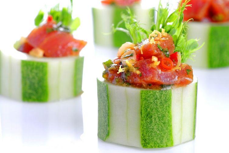 Oriental Tuna Tartare Cups