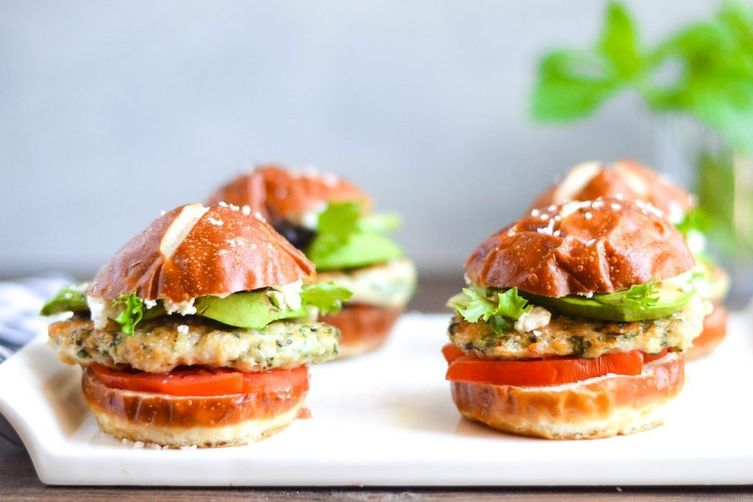 Green Goddess Chicken Sliders
