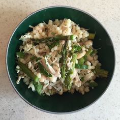 Pearl Couscous Chicken Salad with Roasted Asparagus and Herbs
