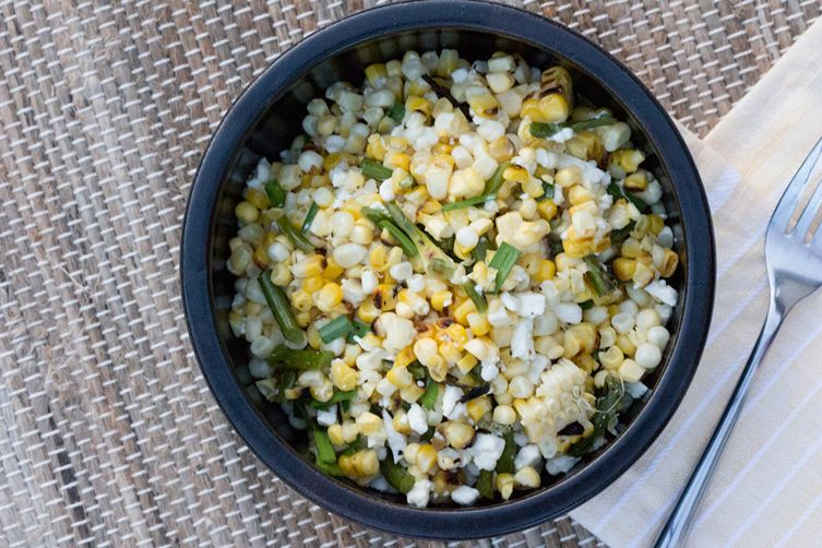 Grilled Corn and Garlic Scape Salad