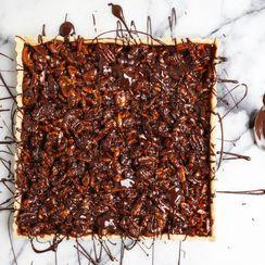 Caramel Nut Tart with Chocolate