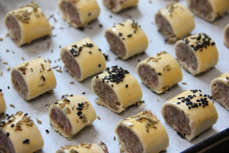 Party Sausage Bites With Pine Nuts