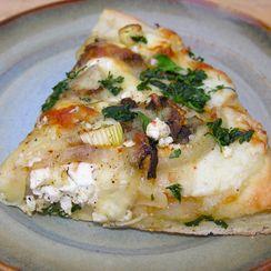 A blonde pizza