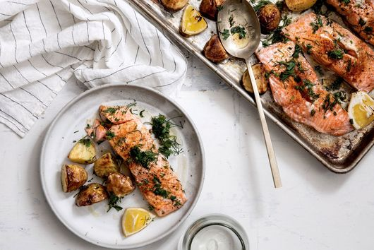 Weeknight Salmon With Baby New Potatoes & Fresh Dill by Joanna Gaines