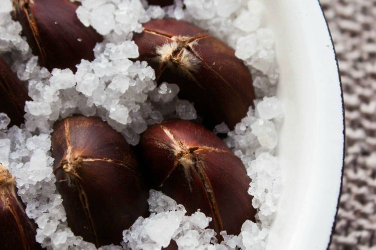 Salt Roasted Chestnuts