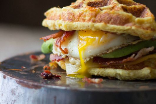 The Ultimate Cauliflower Waffle Breakfast Sandwich