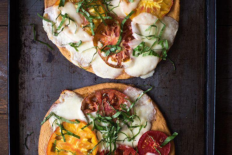 Grain Free Heirloom Tomato Pizza Margherita