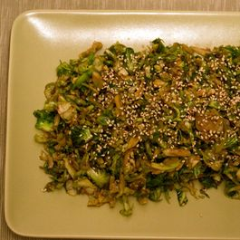 Soy, Ginger and Sesame Brussels Sprouts