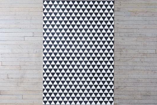 Geometric Flat Woven Vinyl Mats