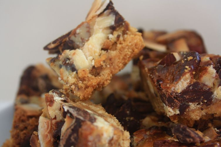 FILTHY CHEWY CHOCOLATE, SALTED CRACKER, PECAN AND COCONUT BARS