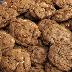 COOKIES WITH A KICK: TRIPLE CHOCOLATE PECAN BITES