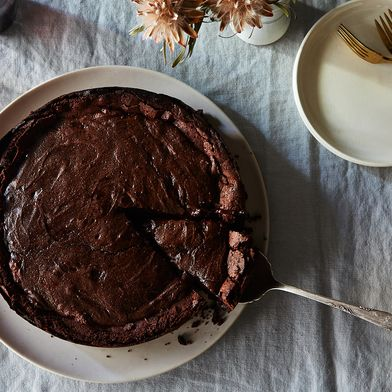Ooey and Gooey Double-Baked Chocolate Cake