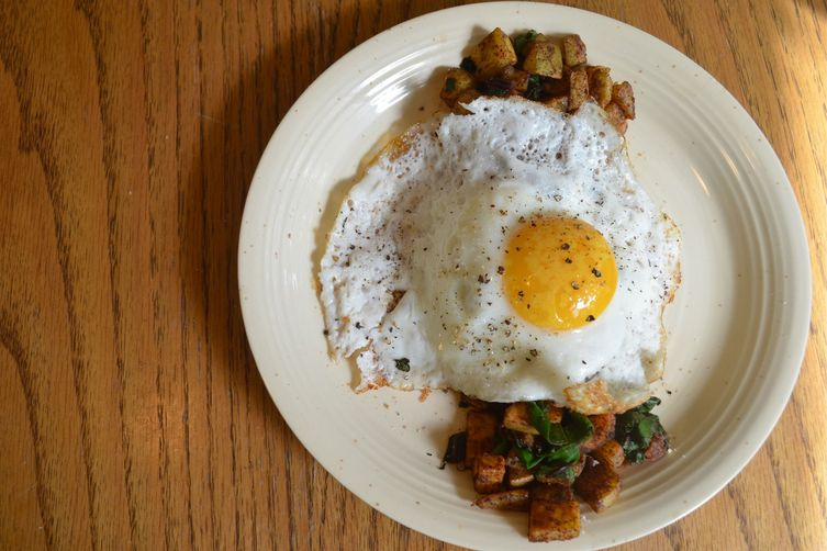 beet green breakfast potatoes