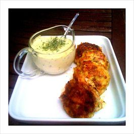 Cod Cakes with Herbed Tartar Sauce