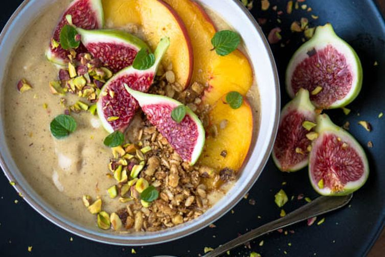 Peaches and Cream smoothie bowl