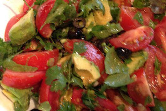 Tomato  Avocado Salad with Rice