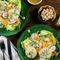 Apple, Radish and Marcona Almond Salad