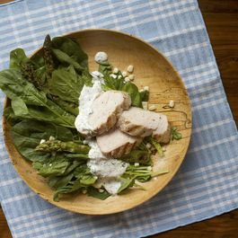 Salads by sashimi