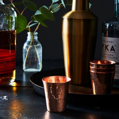 Hammered Copper Shot Cups (Set of 4)