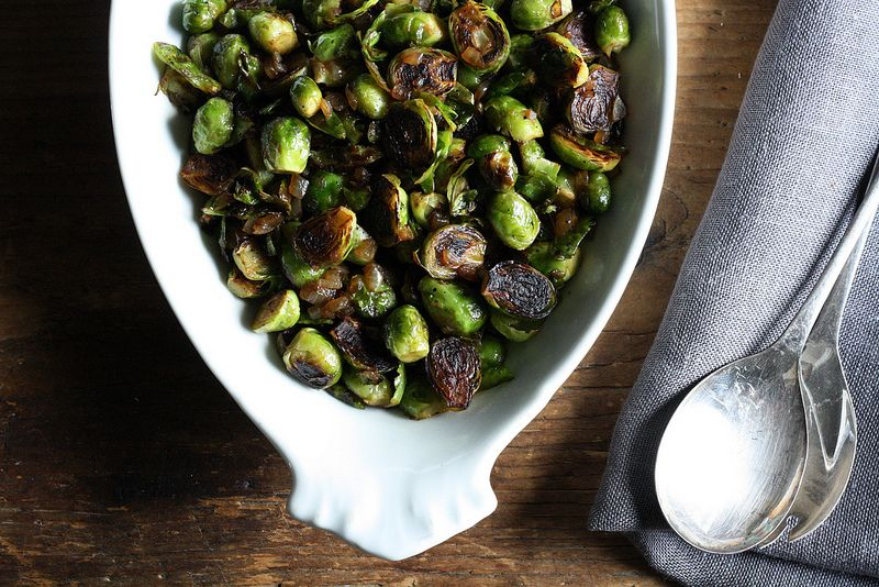 Pot Stuck Brussels Sprouts from Food52