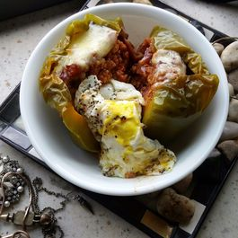 Stuffed Pepper with Fried Egg