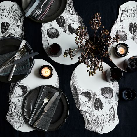 Skull Paper Placemats (Set of 12)