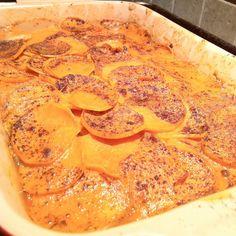 Spicy Sweet Potato-Coconut Gratin