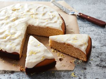 What Unexpected Ingredient Makes This Cake Creamy & Not Too Sweet?