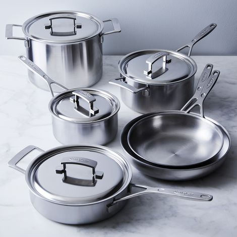 Demeyere Industry 5-Ply Stainless 10 Piece Cookware Set