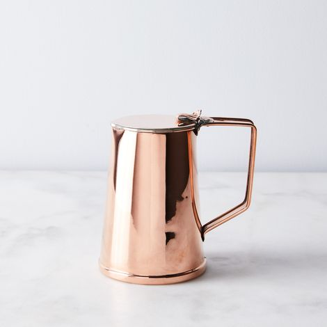 Vintage Copper JS&S Creamer Jug, Late 19th Century